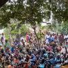 Groupe de femmes casamançaises lors d une cérémonie d'enterrement