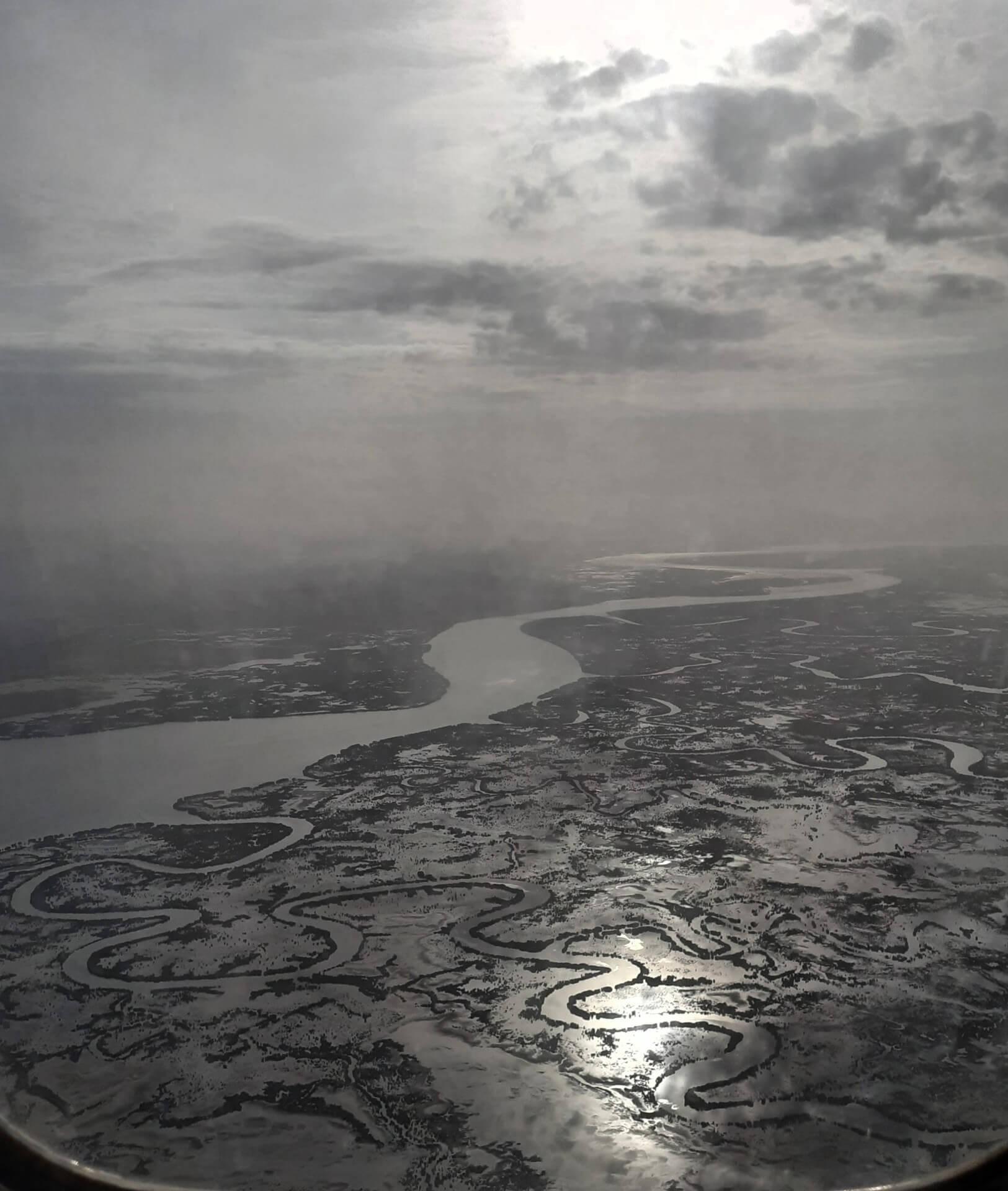 Le fleuve Casamance vu d'avion