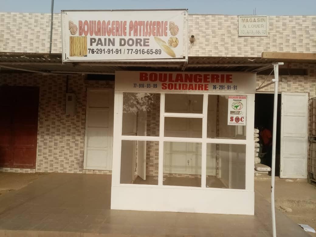 La devanture de la boulangerie à Gandigal